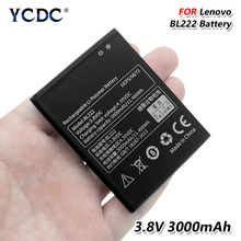 Lithium Rechargeable Mobile Phone BL-222 BL222 Battery BL 222 For Lenovo S660 S668T 3.8V 3000mAh Rechargeable Lithium Battery