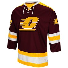 4a02d0d2f BONJEAN CMU Central Michigan Chippewas University Hockey Jersey Embroidery  Stitched