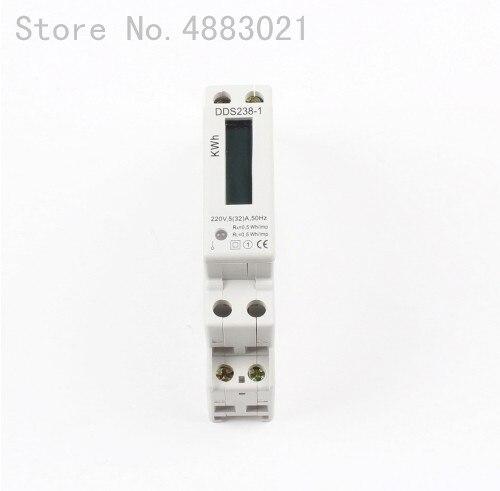 45 1Pc DDS238-1 120V 60HZ 5 A Single Phase DIN Rail kilowatt-hour Meter A 5 32