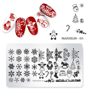 Christmas Designs Laser Nail Art Stamping Template Plates Stamper DIY Polish Print Image 12*6cm Manicure Books Accessory Tools
