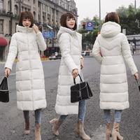 Новый осень зима для женщин; большие размеры модные подпушка длинные красные, белые черные с капюшоном мужские парки теплые куртки толст
