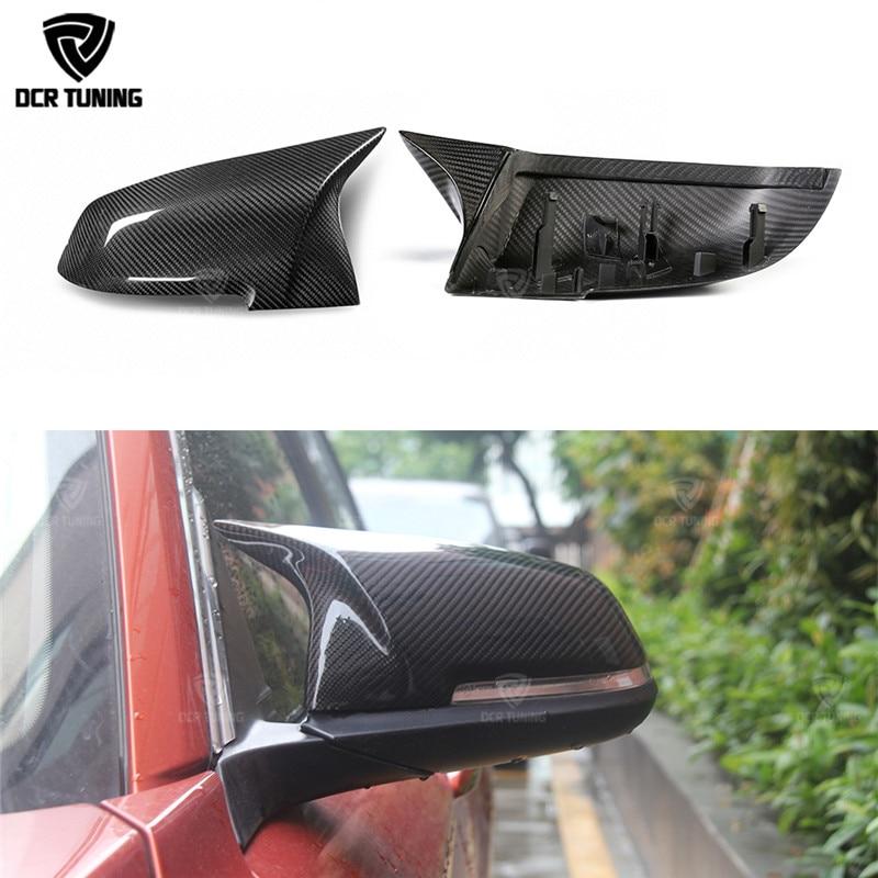 For BMW 1 2 3 4 X Series Carbon Fiber Rear View Mirror Cover F20 F21 F22 F23 F30 F31 F32 F33 F36 X1 E84 F87 M2 M Look Dry Carbon все цены