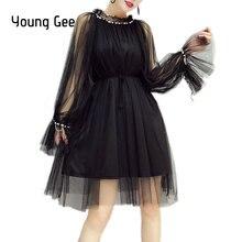 Женское платье с расклешенными рукавами young gee элегантное