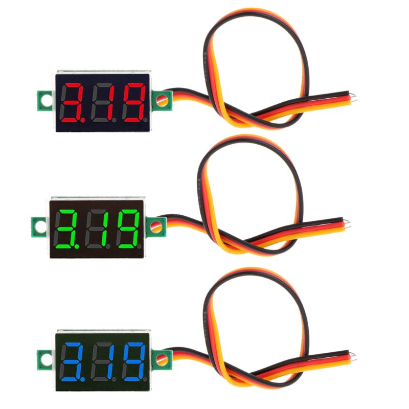 Mini 0.36 inch DC 0-100v 3 bits Digital Red LED Display Panel Voltage Meter Voltmeter tester W329 mini voltmeter tester digital voltage test battery dc 0 30v red blue green auto car