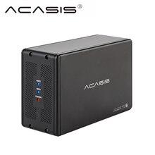 Acasis HDD док-станция Двойной внешний корпус для жесткого диска SATA USB 3,0 алюминиевый 3,5 'Корпус Hdd корпус ноутбук шкатулка HD Extemo