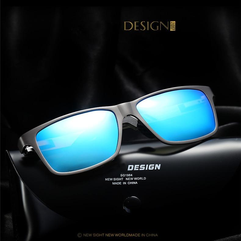 Alluminio polarizzati mens occhiali da sole occhiali da sole a specchio quadrato degli uomini goggle occhiali accessori per uomo donna óculos de sol - 2