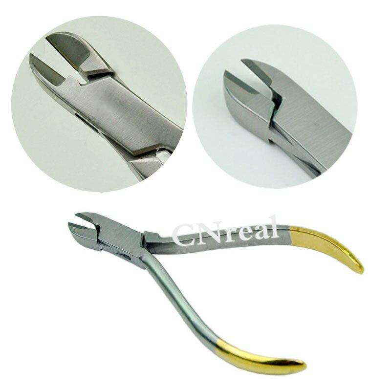 1 peça dental ligadura cortador alicate para ortodôntico fios de ligadura e elásticos dentista instrumento de aço inoxidável