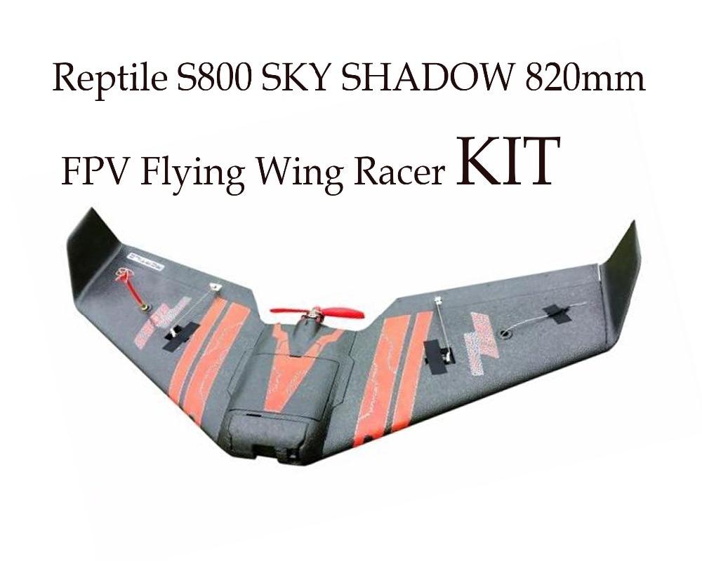 สัตว์เลื้อยคลาน S800 SKY SHADOW 820mm Wingspan FPV EPP ปีกบิน Racer KIT-ใน เครื่องบิน RC จาก ของเล่นและงานอดิเรก บน   1
