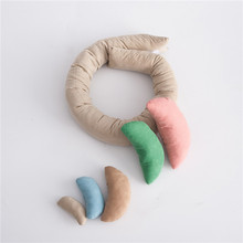 Newborn Photography Props Crescent Baby Posing Pillow Newborn Basket Props Baby Photography Studio Infant Photoshoot Accessories