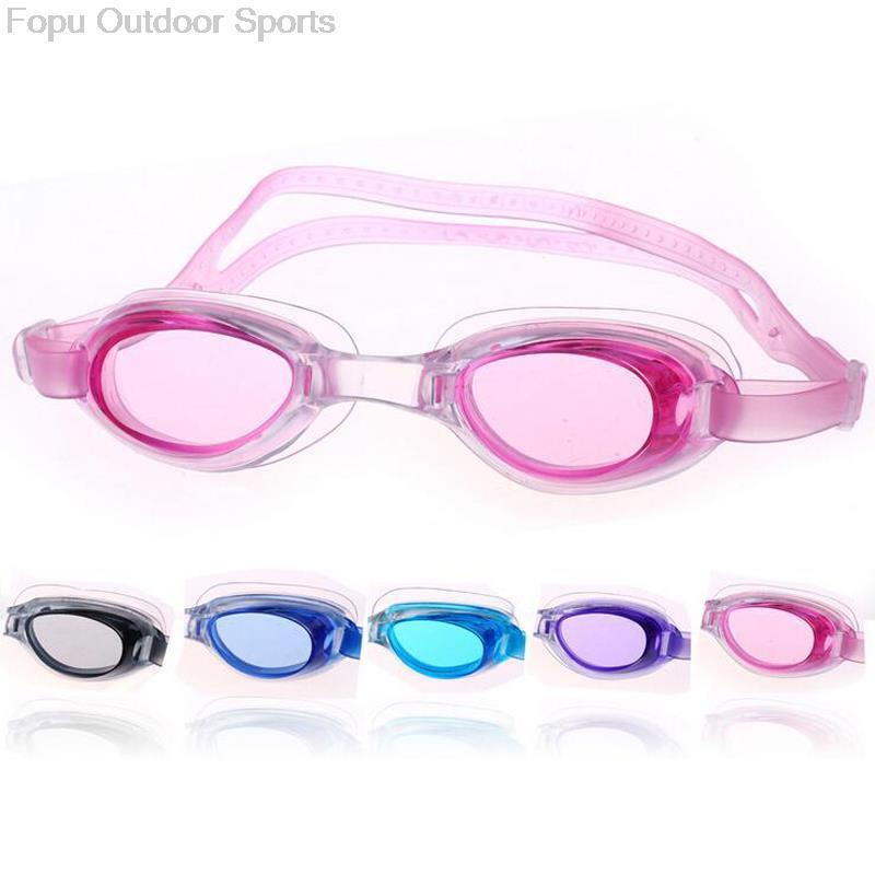 أطفال الأطفال البالغين تحت الماء مكافحة الضباب السباحة البحر الغوص نظارات السباحة نظارات المياه نظارات التبعي ث / حالة سدادات