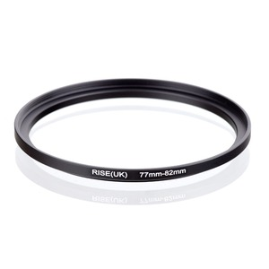 original RISE(UK) 77mm-82mm 77-82mm 77 to 82 Step Up Ring Filter Adapter black(China)