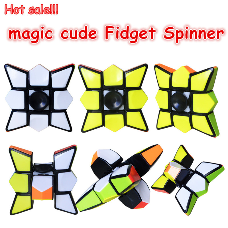 Creative 1x3x3 Magic Cube Fidget Spinner Brain Teaser Magic Cubes Spinner  Toy Anti-stress Puzzle Toys For Children Gifts