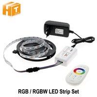 5050 LED Şerit RGB/RGBW/RGBWW 5 M 300 LEDs Neon Bant işık + 2.4G Uzaktan Kumanda + DC 12 V 3A Güç Adaptörü