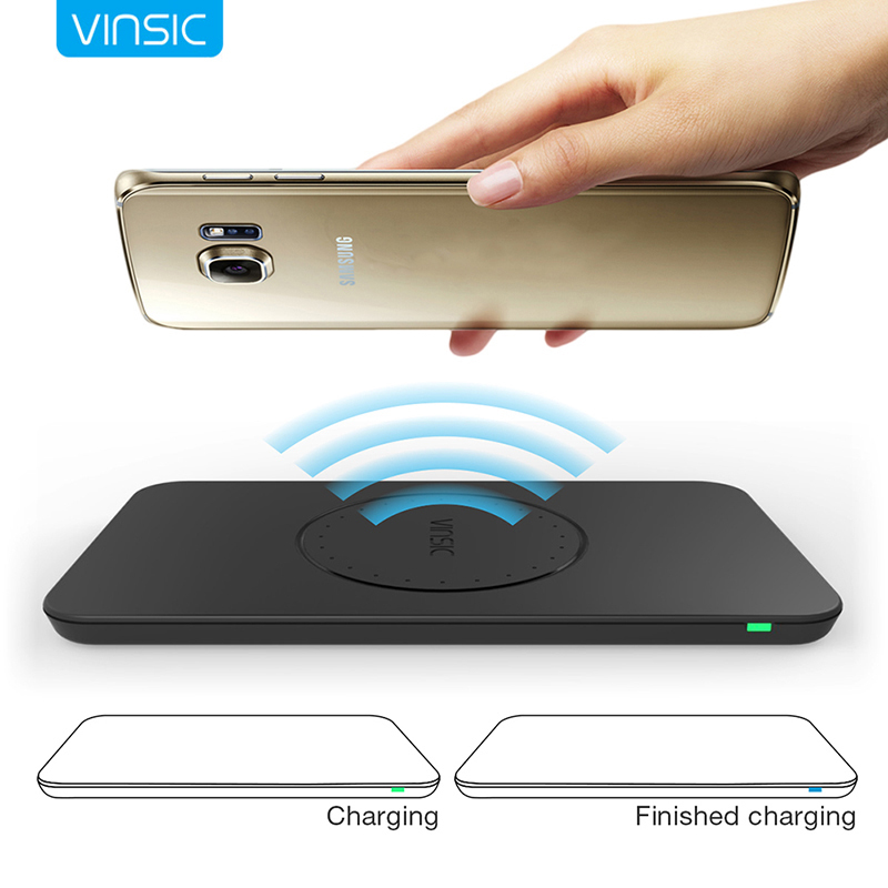 Vinsic Qi Wireless Charger Triple Coil Panel Power Supply QI Standard for Samsung Galaxy S7 S6 / edge / note 5