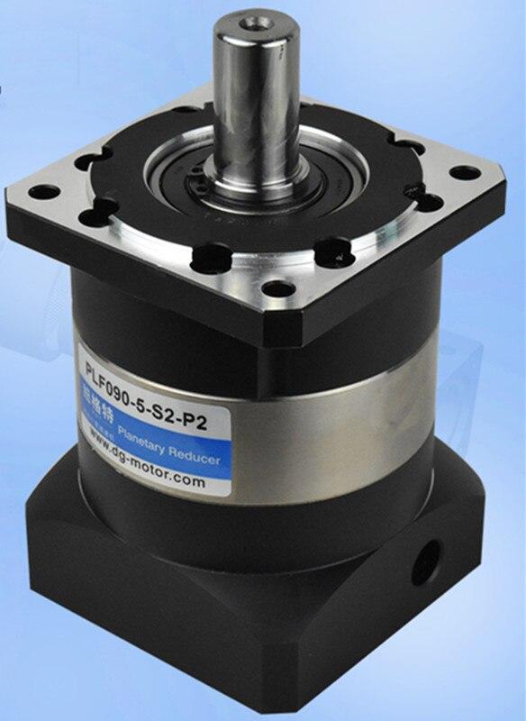 PLF90-L1 90mm planetary gear reducer ratio 3:1 to 10:1 for 80mm 750w AC servo motor shaft 19mm high precision 3 stages lrh90 19mm 12 arcm planetary gear reducer disc type ratio 80 1 100 1 for nema32 80mm servo motor