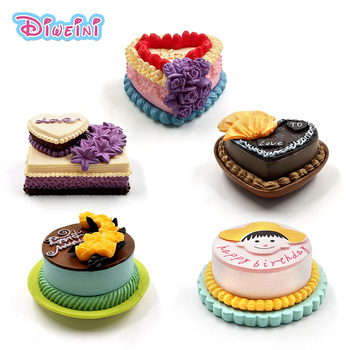 Lover Birthday Cake Model Simulation Food Miniature Figurine Pretend play Kitchen Toy Dinner Doll House Accessories Kids gift 10pcs white plate dishes simulation plates miniature pretend play kitchen toys dinner tableware doll house accessories kids gift