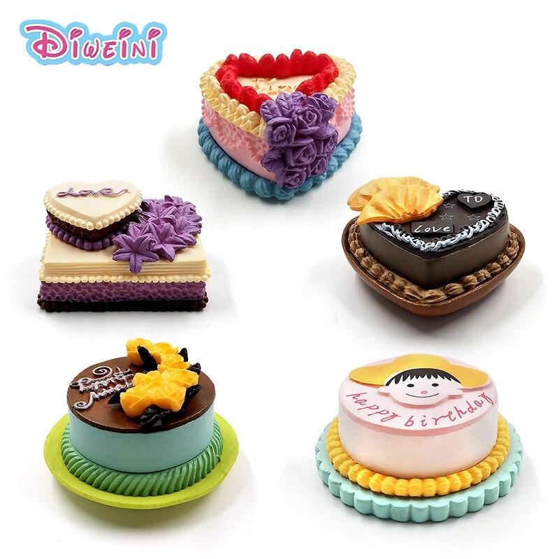 >Lover Birthday Cake Model Simulation Food Miniature Figurine Pretend play Kitchen Toy Dinner <font><b>Doll</b></font> <font><b>House</b></font> <font><b>Accessories</b></font> Kids gift