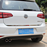 Car Styling Car Accessories For Vw Volkswagen Golf 7 Mk7 Rear Moulding Cover Stainless Steel Back
