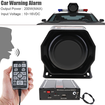 Loud Car Horn >> 12v 200w 18 Tone Loud Car Warning Alarm Police Ambulance Firetruck
