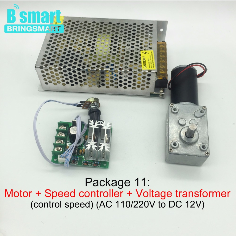 12v 24v Dc Worm Gear Motor Kits Bracket Speed Controller Engine Circuit For Control Package 1 And 2 Wiring Marked Red Terminal Connected To The Positive Of Power Supply Other End Negative