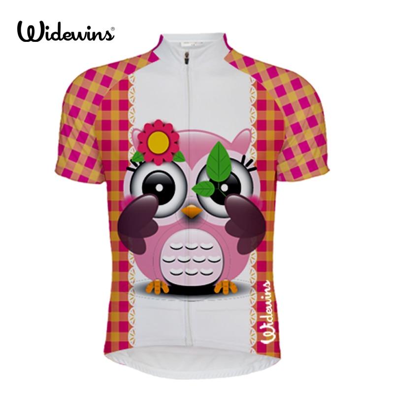 Cycling Clothing Jersey-Top Tee-Shirt Short-Sleeve Blue Girl Bird-5836 Lovely