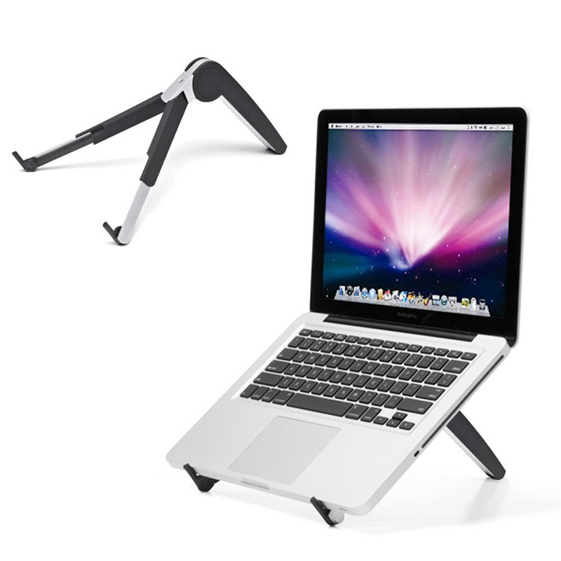 New Folding Laptop Holder Pc Stand With Stretching Legs And Adjusting Angles For 11~16 Inch Computer Notebook Portable Lap Des Desk Accessories & Organizer