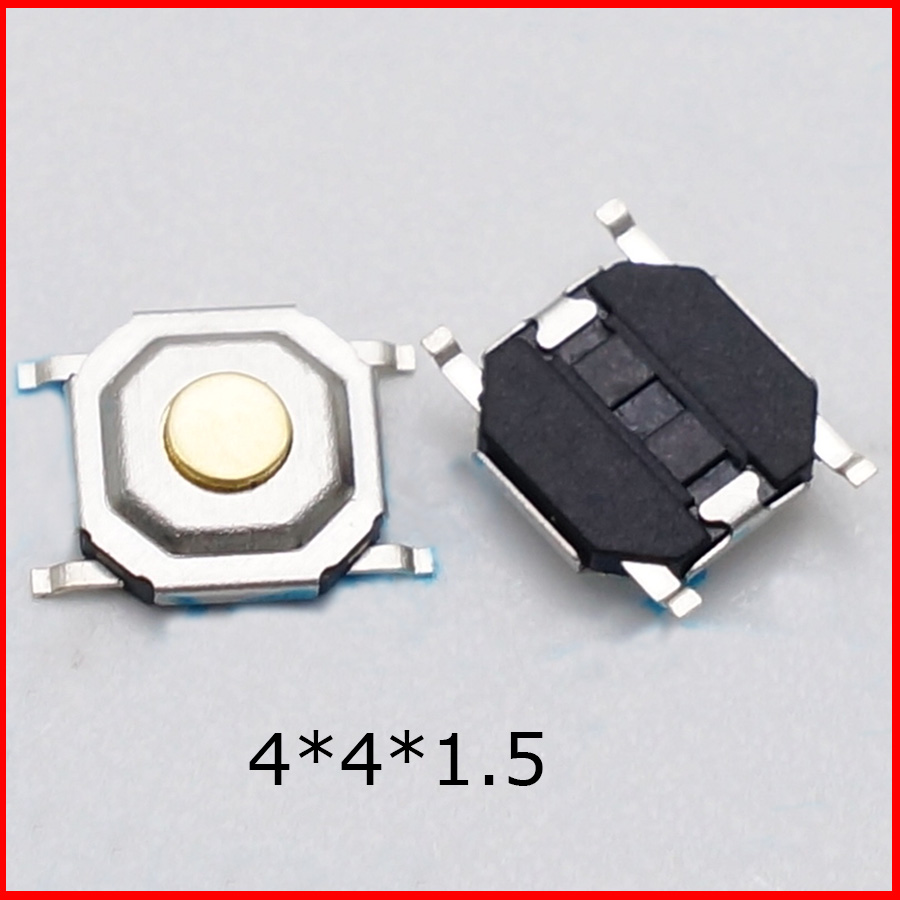 100PCS Switch Button Stable Tact SMD Micro Switch 4x4x1.5MM