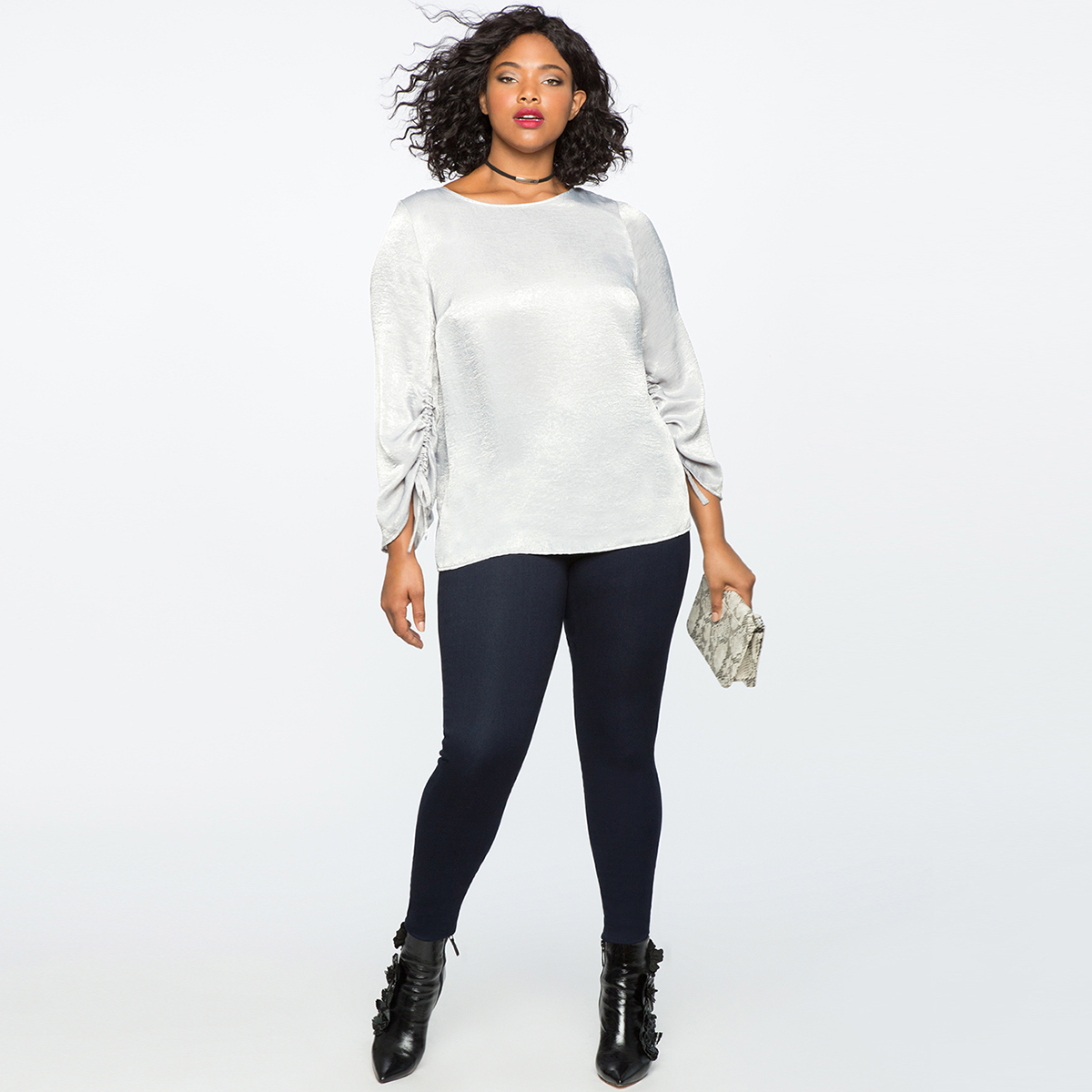 MCO 2018 Spring Lace Up Long Sleeves Plus Size Satin Women's Top Simple Office Ladies White Blouse Basic Big Women Tops 5xl 6xl 4
