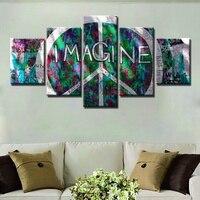멋진 선물 평화 기호 로고 거리 낙서 그림 인쇄 모듈 높은 품질의 캔버스 벽 예술 홈 룸 장식 사용자 정의