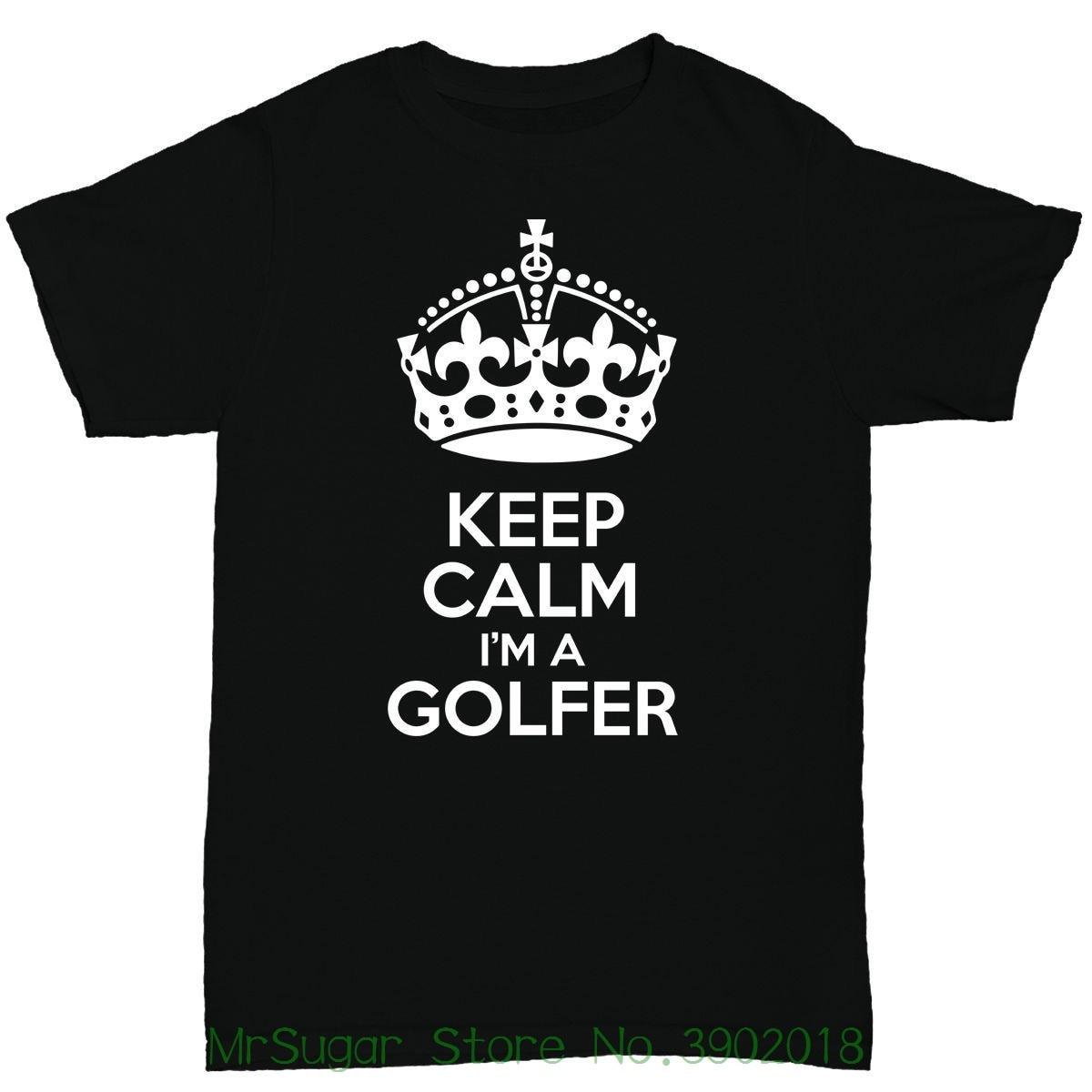 Keep Calm Im A Golfer Mens T Shirt Golfer Golfing Birthday Funny Humour New 2018 Fashion T Shirt Men