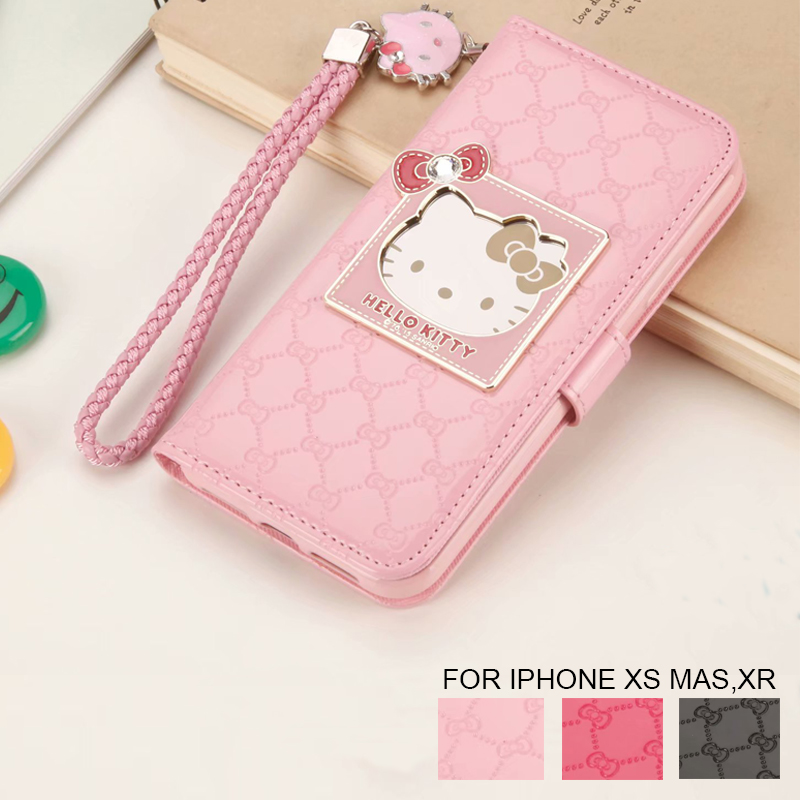 11dff952c Detail Feedback Questions about Fashion Women For Apple iPhone X XR XS Max 6  6S 7 8 Plus Phone Case Luxury Wallet Hello Kitty Magnetic Flip PU Leather  Cover ...