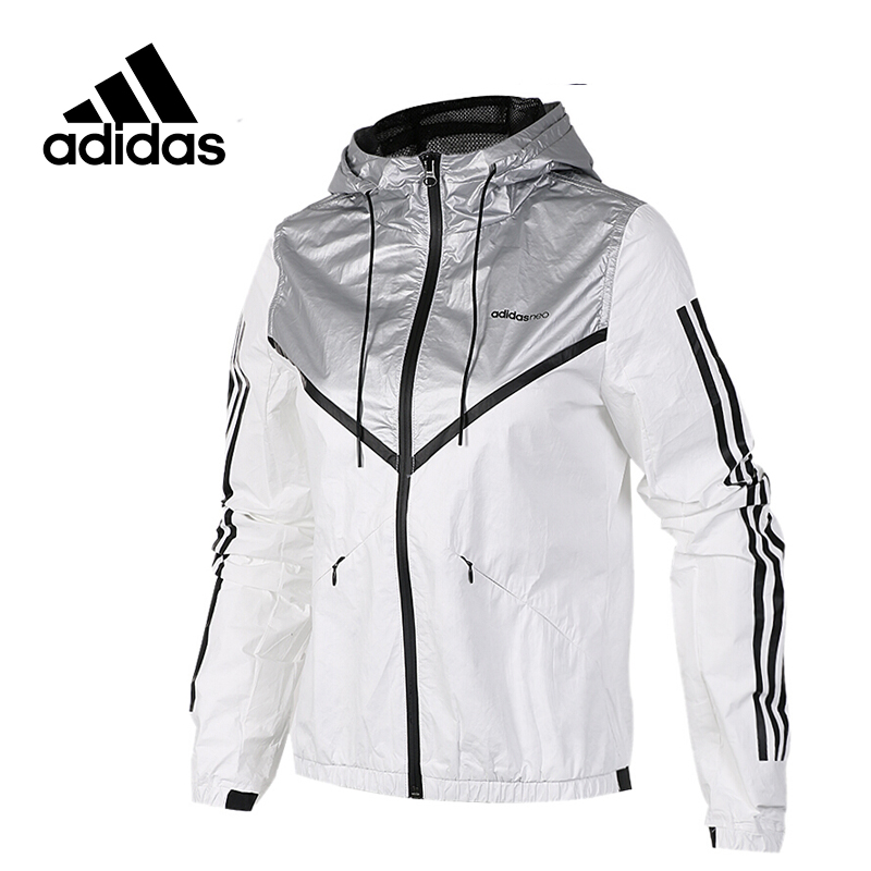 New Arrival Original Adidas NEO Label Women's  Windproof Jacket Hooded Sportswear original new arrival official adidas neo women s knitted pants breathable elatstic waist sportswear