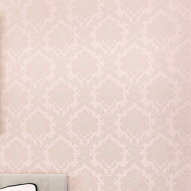 Bedroom Background Vinyl Wall Wallpaper Classic Pink Floral