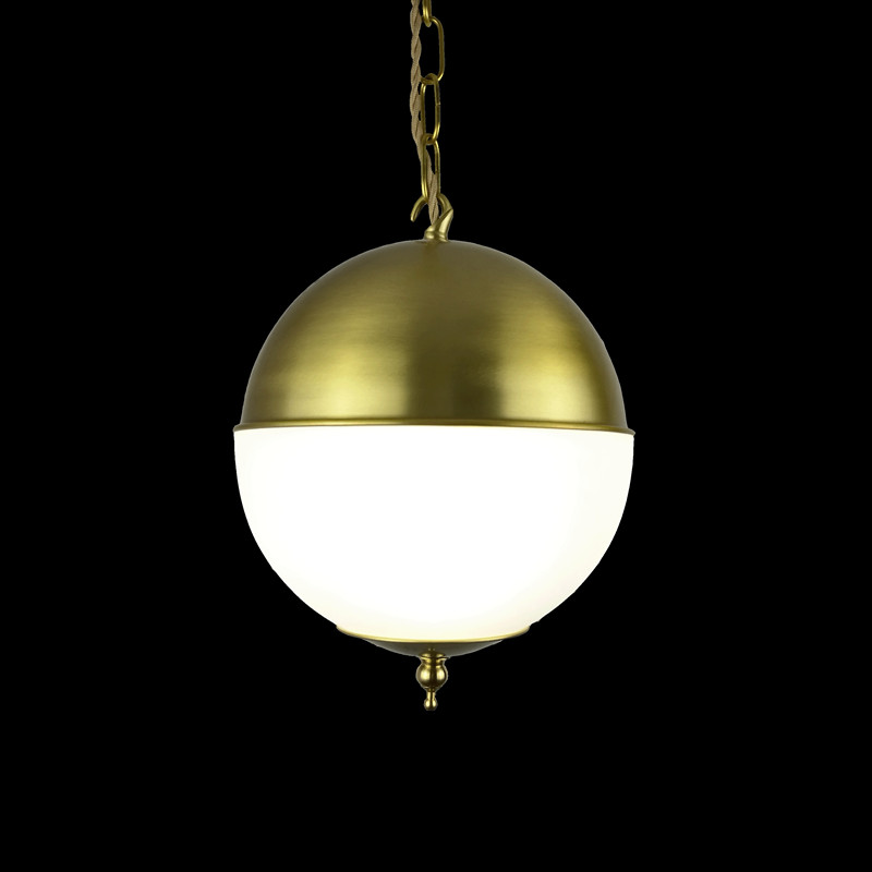 Modern glass round white ball brass Pendant Light LED chain cord copper lamp fixture For Living Room window shop home decoration modern glass round white ball brass pendant light led chain cord copper lamp fixture for living room window shop home decoration