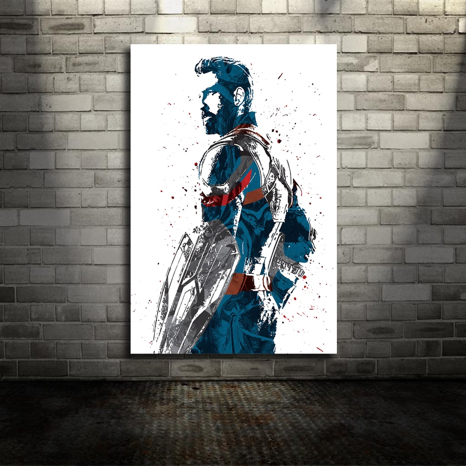 Captain America Infinity Wars Marvel Movie Canvas Poster Wall Art Print Kids Decor Home Decor image