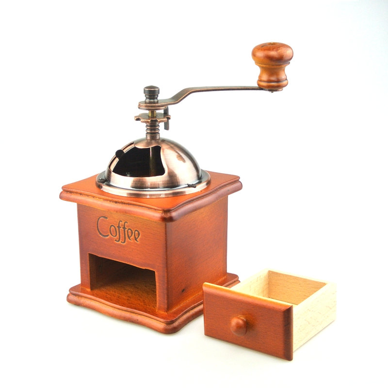Coffee Grinder Manual Hand Coffee Maker Burr Corn Mill Grinders Portable Coffee Mill Machine ...