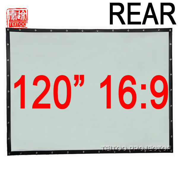 120 Inch 16:9 Behind Rear Projection Screen Translucent PVC ...