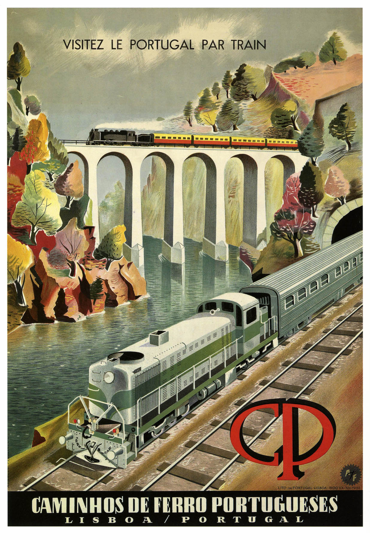 Vintage Railway Travel Poster Visit Portugal By Train Classic Canvas Paintings Vintage Wall Posters Stickers Home Decor Gift poster