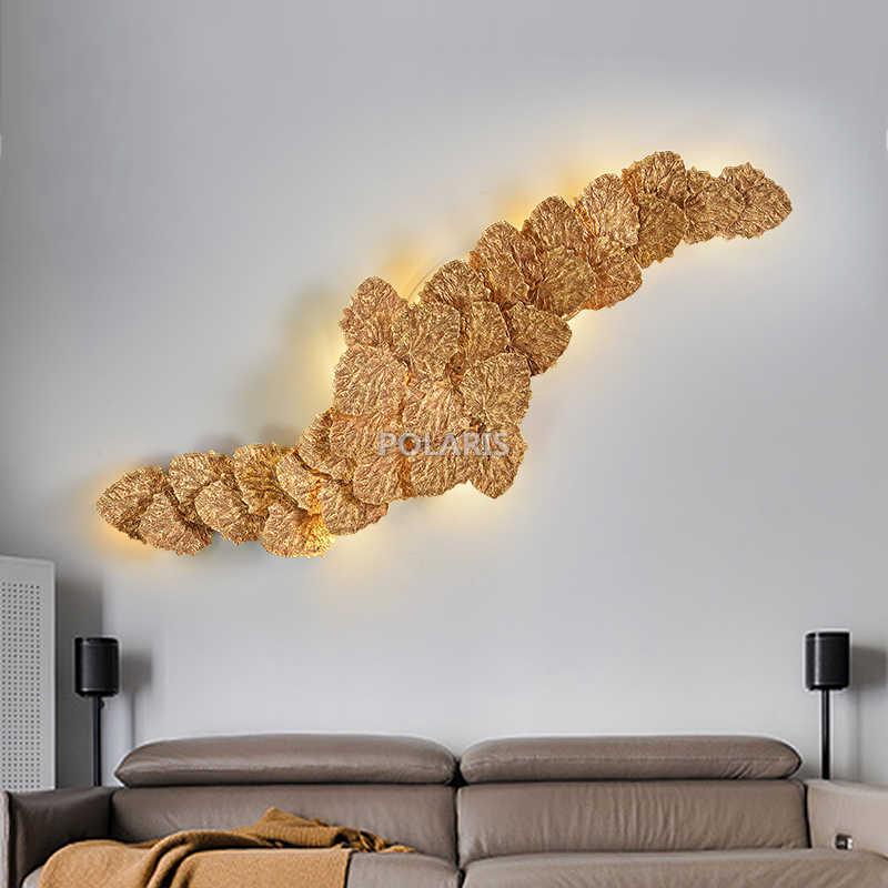 Латунь бра Медь настенный светильник светодиодный Люстра, настенные светильники фойе освещения для дома Отеле Living Украшения для обеденной