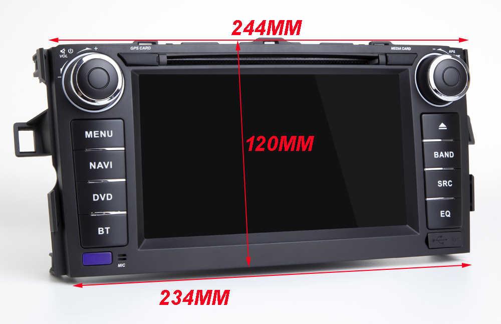 7 дюймов Android 9,0 четырехъядерный автомобильный DVD gps плеер для TOYOTA AURIS Мультимедиа Стерео Авто Радио Навигация Wifi/4G BT карта DVR DAB +