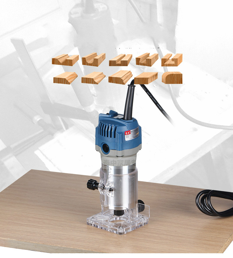 1/4 Trimmer 6.35mm Electric Woodworking 550w 220-240v Wood Router Edge(Double-insulated) 90 corner clamp shopify