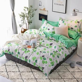 3/4 штуки в комплекте набор простой мультфильм черный, белый цвет из сверхтонкого волокна постельное белье пододеяльник для пухового одеяла ...