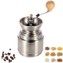 Mini Edelstahl Manuelle Kaffeemühle Mühle mit Einstellbarer Keramik Grat Kaffeebohne Pfeffer sesammühle Küche Werkzeug