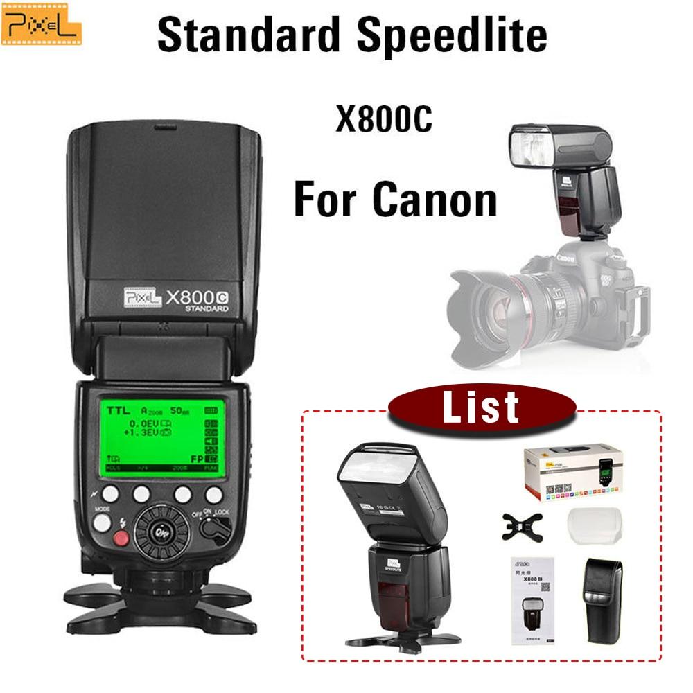 For Canon TTL Flash Speedlite Pixel X800C Standard Hot shoe Flash Wireless For Canon 70D 60D 50D 350D 300D 1000D 1100D 5D2 1D