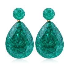 HOCOLE 2019 New 8 Colors Water Drop Dangle Earrings Pendientes Largos Brincos Fashion Women Resin Ear Jewelry Gift