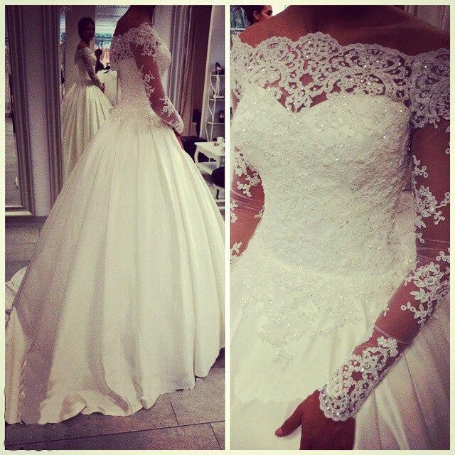 Vestidos De Novia 2017 Vintage Lace Wedding Dresses Long Sleeves A ...