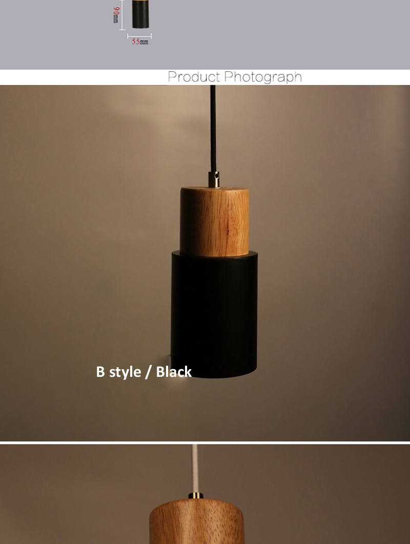 Modern lamp brief minimalist creative wood 5