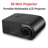 Full HD 1080P Video 800 Lumen Portable X6 Mini Projector LED HDMI AV VGA SD USB