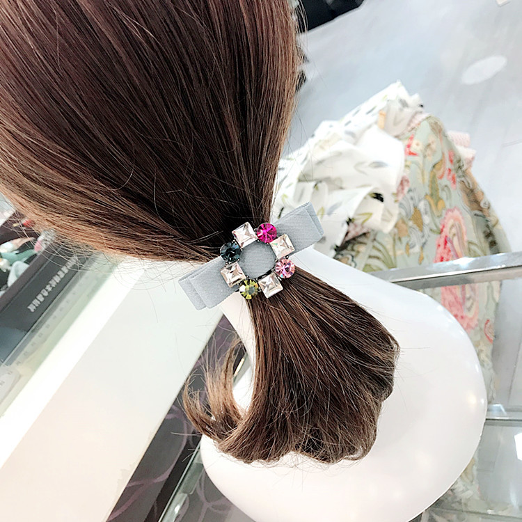 Pearl Crystal Bow Hair Accessories For Girls Elastic Hair Bands Princess Rubber Band Hair Ties Hairband in Women 39 s Hair Accessories from Apparel Accessories