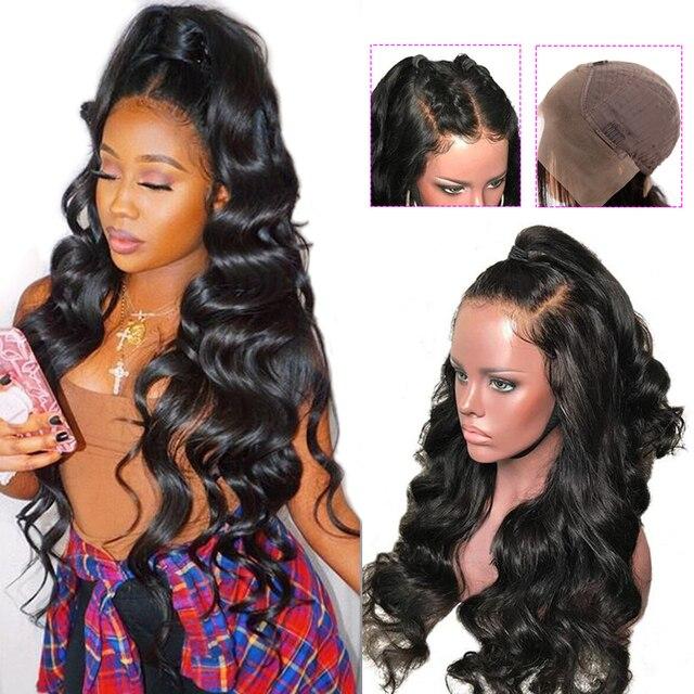 Объемная волна Синтетические волосы на кружеве человеческих волос парики 13*4 бразильский Реми парики из натуральных волос на кружевной alimice 130% 150% 180% плотность Синтетические волосы на кружеве парики